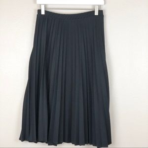 Black Accordion Pleated Skirt